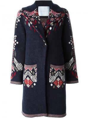 Пальто с цветочным принтом Giada Benincasa. Цвет: чёрный