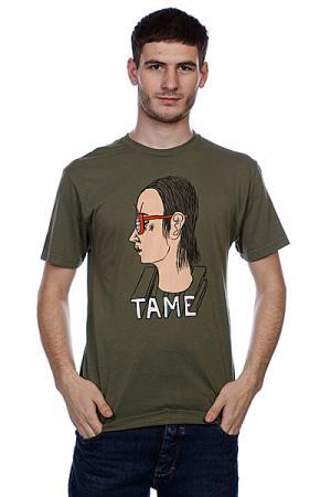 Футболка  Tame Premium Army Toy Machine. Цвет: зеленый