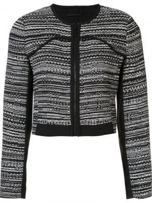 Укороченный пиджак на молнии Dvf Diane Von Furstenberg. Цвет: чёрный
