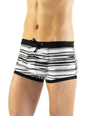 Плавки - шорты Lowry. Цвет: черный, белый