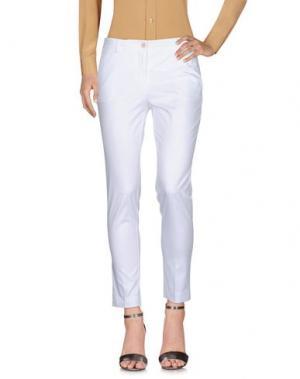 Повседневные брюки ROSSO35. Цвет: белый