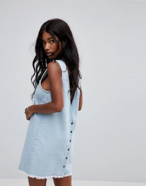 Zulu and Zephyr Пляжное джинсовое платье мини &. Цвет: синий