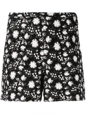 Вышитые шорты Giambattista Valli. Цвет: чёрный