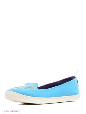 Слипоны CentrShoes. Цвет: голубой