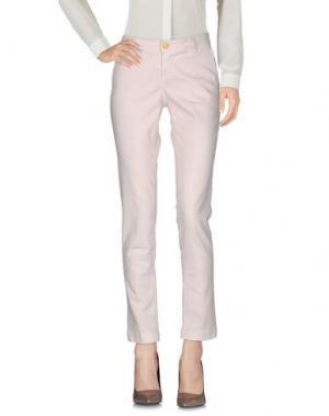 Повседневные брюки RE-HASH. Цвет: светло-розовый