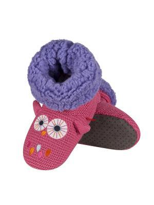 Тапки детские SOXO. Цвет: розовый, белый, коричневый, фиолетовый