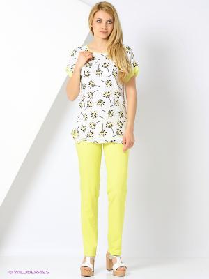 Блузка Femme. Цвет: белый, желтый, салатовый, черный