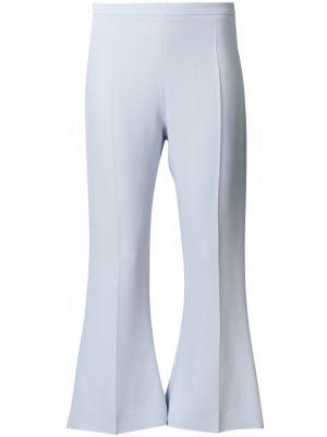 Укороченные брюки клеш Antonio Berardi. Цвет: синий