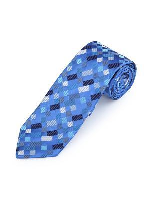 Галстук Heber Boxes Bures Duchamp. Цвет: темно-синий, лазурный, морская волна, светло-серый, серо-голубой, темно-серый