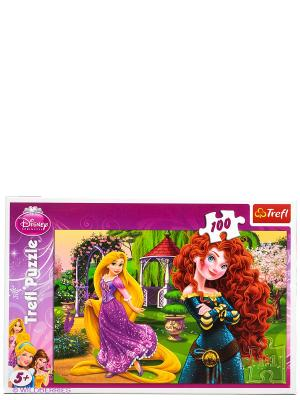 Пазл Веселые принцессы Trefl. Цвет: розовый