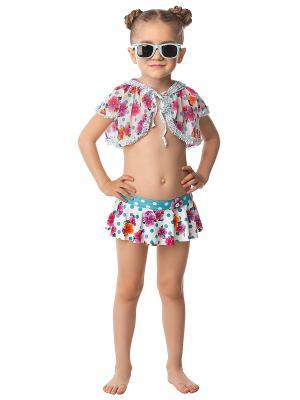 Пляжное болеро для девочек Arina. Цвет: белый