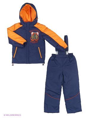Комплект одежды Шнитки. Цвет: синий, оранжевый
