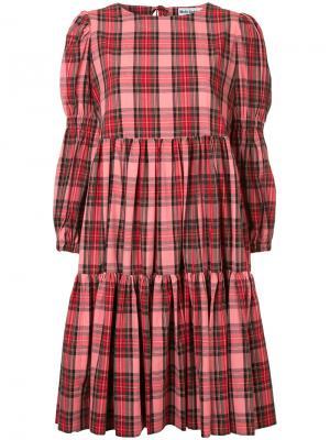 Расклешенное платье в клетку Molly Goddard. Цвет: многоцветный