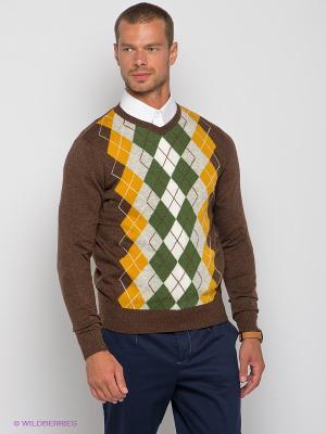 Пуловер Baon. Цвет: коричневый, серый меланж, горчичный, зеленый