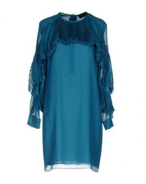 Короткое платье GUCCI. Цвет: цвет морской волны