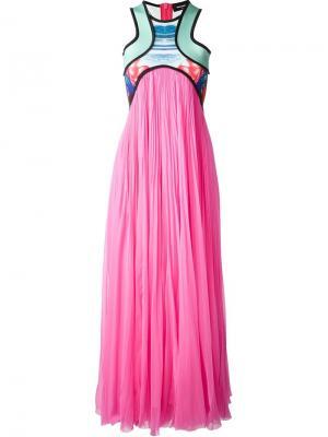 Длинное платье Kahili Surf Dsquared2. Цвет: розовый и фиолетовый