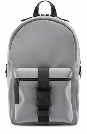 Текстильный рюкзак с внешним карманом на молнии Christopher Kane. Цвет: серый