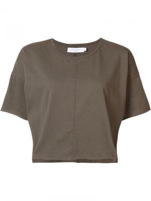 Укороченная футболка Daniel Patrick. Цвет: зелёный