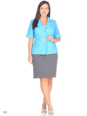 Жакет NADIA ARMAN. Цвет: голубой
