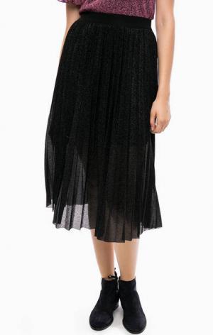Плиссированная юбка на резинке Kocca. Цвет: черный