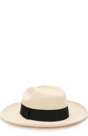 Соломенная шляпа с лентой Artesano. Цвет: бежевый