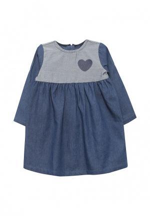 Платье джинсовое Chicco. Цвет: синий