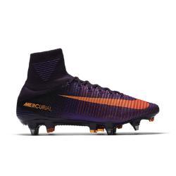 Мужские футбольные бутсы для игры на мягком грунте  Mercurial Superfly V SG-PRO Nike. Цвет: пурпурный