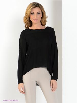 Блузка MILANO ITALY. Цвет: черный