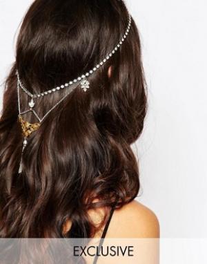 Olivia The Wolf Украшение на голову в золотисто-серебристых тонах с хрусталем T. Цвет: серебряный