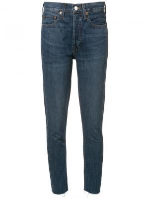 Укороченные джинсы  с завышенной талией Re/Done. Цвет: синий