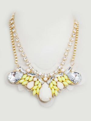 Колье Kameo-bis. Цвет: золотистый, белый, желтый