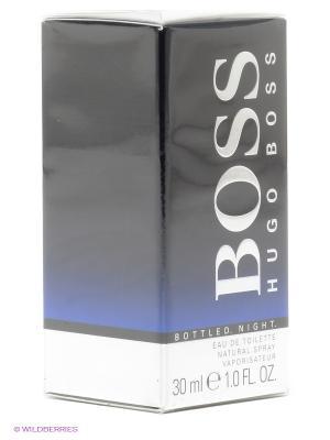 Туалетная вода Boss Bottled Night, 30 мл HUGO. Цвет: черный, серебристый