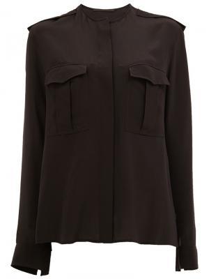 Блузка с карманами Haider Ackermann. Цвет: чёрный