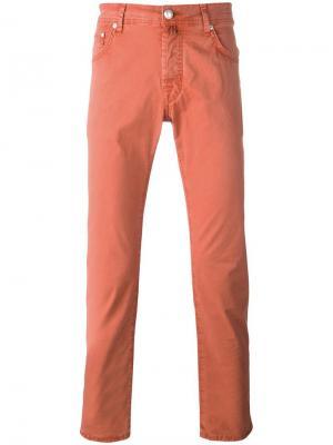 Узкие джинсы Jacob Cohen. Цвет: жёлтый и оранжевый
