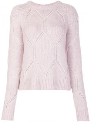 Ella jumper Tanya Taylor. Цвет: розовый и фиолетовый