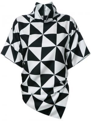 Блузка с геометрическим принтом Monse. Цвет: чёрный