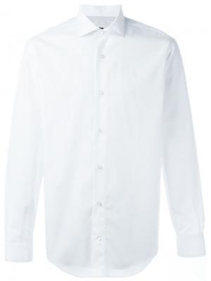 Классическая рубашка Eleventy. Цвет: белый