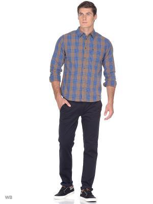Рубашка 1PKT Wrangler. Цвет: оранжевый, синий