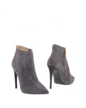 Полусапоги и высокие ботинки PREZIOSO. Цвет: серый