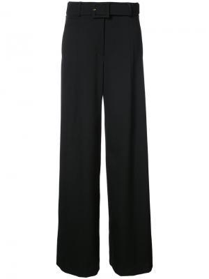 Широкие брюки с поясом Oscar de la Renta. Цвет: чёрный