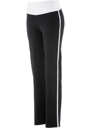 Расклешенные брюки (черный) bonprix. Цвет: черный
