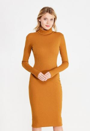 Платье TrendyAngel. Цвет: коричневый