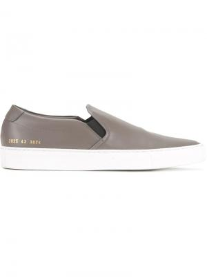 Кеды-слипон Common Projects. Цвет: серый