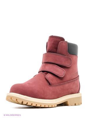Ботинки STROBBS. Цвет: бордовый