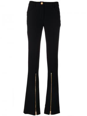 Расклешенные брюки с молниями Boutique Moschino. Цвет: чёрный