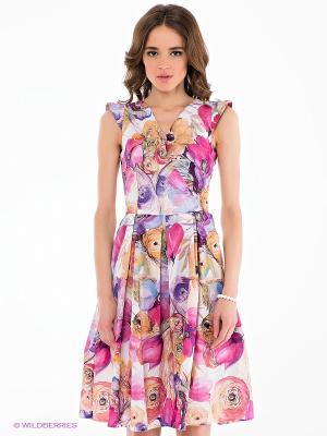 Платье Verezo. Цвет: фуксия, оранжевый, фиолетовый