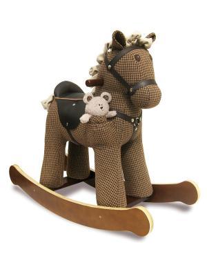 Лошадка-качалка Chester Little Bird Told Me. Цвет: коричневый