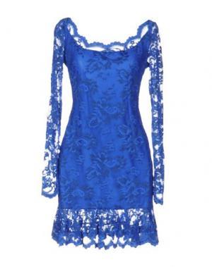 Короткое платье BALENSI. Цвет: ярко-синий