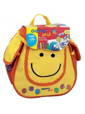 Giotto be-be рюкзак овечка фломастеры, восковые мелки, раскраска. FILA. Цвет: желтый, красный