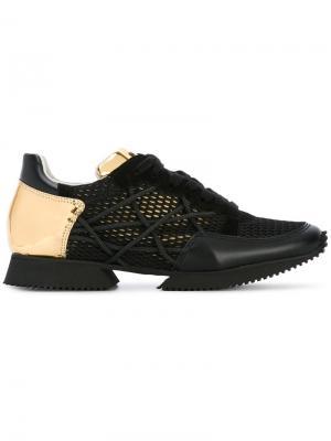 Сетчатые кроссовки со шнуровкой Alberto Premi. Цвет: чёрный